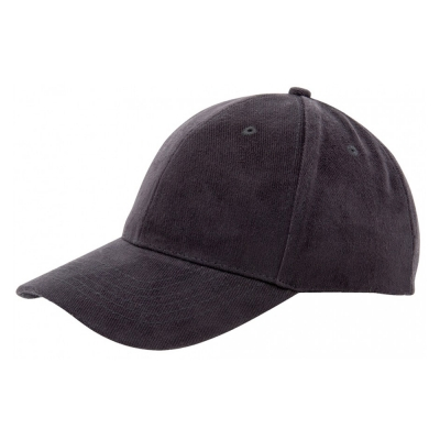 Heavy brushed cap Black