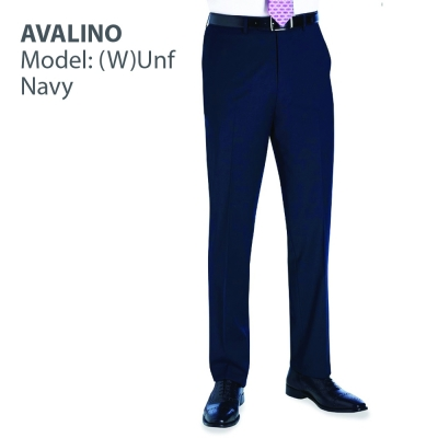 Avalino, flat front trouser, Navy