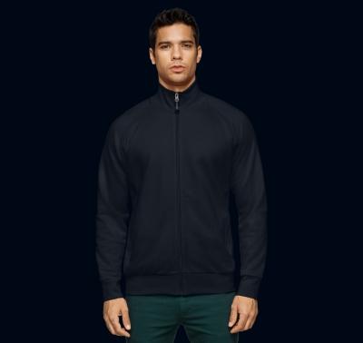 """Sweatjacket """"college"""" , Black/Zwart"""